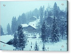 Winter In Gstaad Acrylic Print