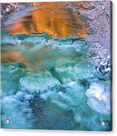 Winter Light Reflections Acrylic Print by Leland D Howard