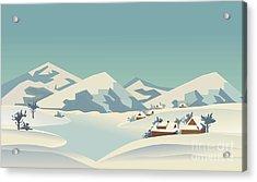 Winter Season Nature Landscape Acrylic Print