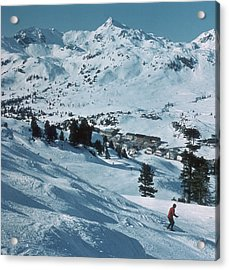 Winter Sport Acrylic Print by Frederic Lewis