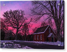 Acrylic Print featuring the photograph Winter Sunrise by Lori Coleman