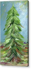 Winter Tree- Expressionist Art By Linda Woods Acrylic Print