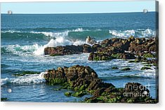 Winter Waves Hit Ancient Rocks No. 1 Acrylic Print