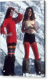 Winter Wear Acrylic Print by Slim Aarons