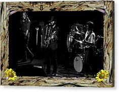 Acrylic Print featuring the photograph Winterland 76 In A Redwood Bark Frame #2 by Ben Upham