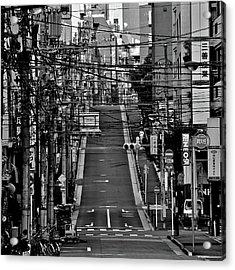 Wire Street In Yushima Acrylic Print