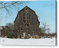 Acrylic Print featuring the photograph Wisconsin Barn by Kim Hojnacki