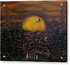 Witch At Night Acrylic Print