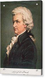 Wolfgang Mozart Acrylic Print by Hulton Archive