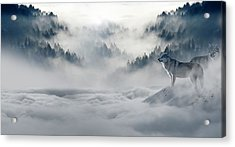 Wolfs In The Snow Acrylic Print