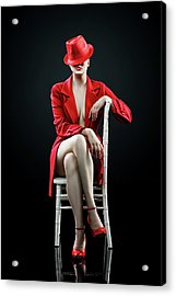 Woman In Red Acrylic Print