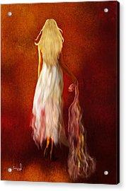 Woman In White Acrylic Print