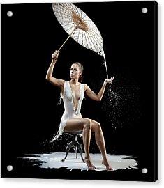 Woman With Milk Dress Acrylic Print