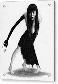 Woman With The Black Arm Of Demon Ghost - Artwork Acrylic Print
