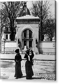 Women Outside The Concord State Capitol Acrylic Print