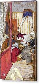 Women Sewing - Digital Remastered Edition Acrylic Print