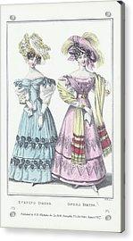 Women Wearing Evening And Opera Dress Acrylic Print