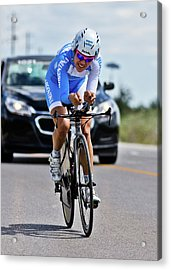 Acrylic Print featuring the photograph Womens Individual Time Trial No 1 by Brian Carson
