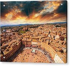 Wonderful Aerial View Of Piazza Del Acrylic Print