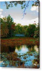 Wood Bridge In The Fall Acrylic Print