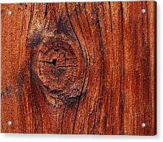 Acrylic Print featuring the digital art Wood Knot by ISAW Company