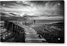 Acrylic Print featuring the photograph Wooden Fishing Piers by Michalakis Ppalis