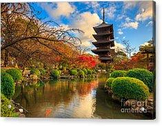 Wooden Pagoda Of Toji Temple, Kyoto Acrylic Print