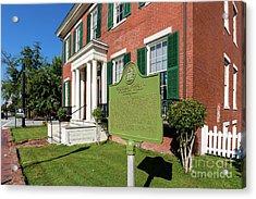 Woodrow Wilson Boyhood Home - Augusta Ga 1 Acrylic Print