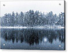 Woodstock Snowstorm Acrylic Print