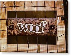 Woof Acrylic Print
