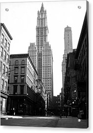 Woolworth Building, New York City, New Acrylic Print by Jupiterimages