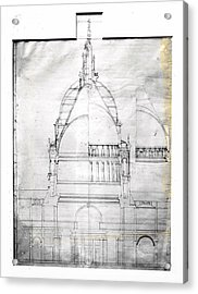 Wrens Plan Of St Pauls Acrylic Print by Topical Press Agency