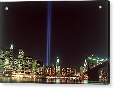 Wtc Memorial Lights, New York City Acrylic Print