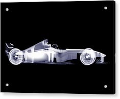 X-ray Of A Toy Formula One Race Car Acrylic Print by Nick Veasey