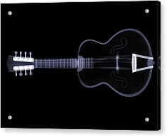 X-ray Of Eight String Guitar Acrylic Print