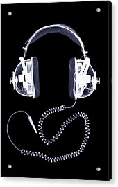 X-ray Of Headphones Acrylic Print