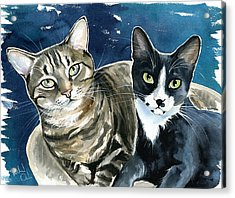 Xani And Zach Cat Painting Acrylic Print