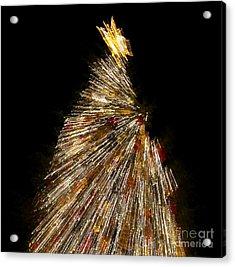 Xmas Tree Motion Art Acrylic Print