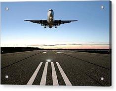 Xxl Jet Airplane Landing Acrylic Print