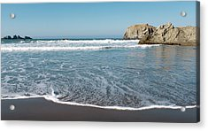 Acrylic Print featuring the photograph Yachats Oregon Beach Wave 101818 by Rospotte Photography
