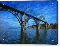 Yaquina Bay Bridge From South Beach Acrylic Print