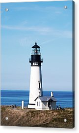 Acrylic Print featuring the photograph Yaquina Head Lighthouse 101618 by Rospotte Photography