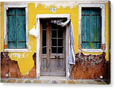 Yellow Doorway Acrylic Print