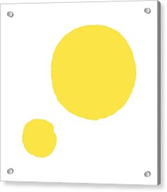 Yellow Dots Acrylic Print