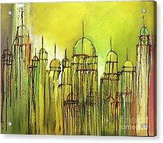 Yellow Mosque  Acrylic Print