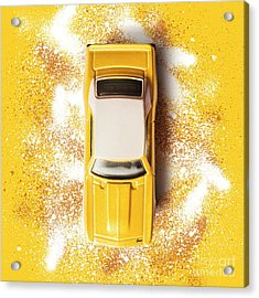 Yellow Street Machine Acrylic Print