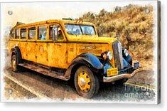 Yellowstone National Park Vintage Coach Acrylic Print