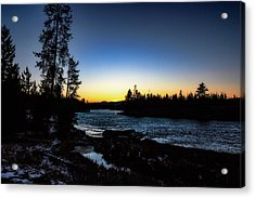 Acrylic Print featuring the photograph Yellowstone River by Pete Federico