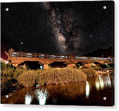 Yonghe Bridge Milky Way Acrylic Print