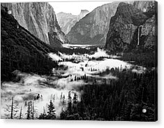 Acrylic Print featuring the photograph Yosemite Fog 2 by Stephen Holst